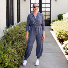Faux Wrap Front Drawstring Jumpsuit