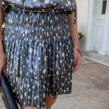 Polka Dot Dress w/ Pleated Skirt