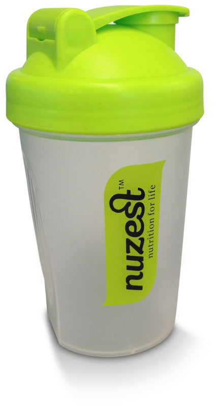 NuZest Shaker Clear/Green 400ml