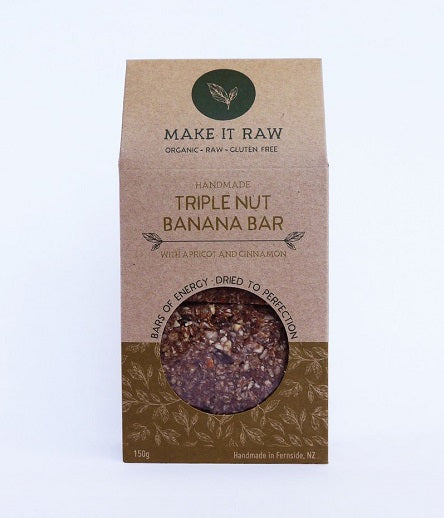 Make It Raw Triple Nut Banana Bar 150g