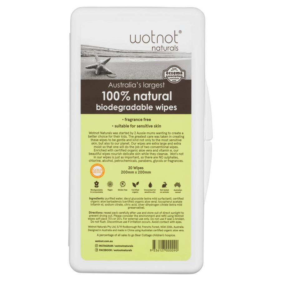 WOTNOT Travel Wipe Hard Case 20pk