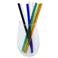 Camel  Glass Drinking Straw & Cleaner