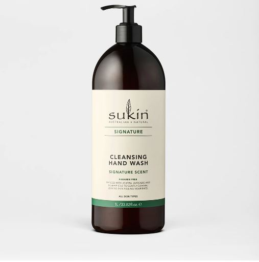SUKIN CLEANSING HAND WASH PUMP 1L