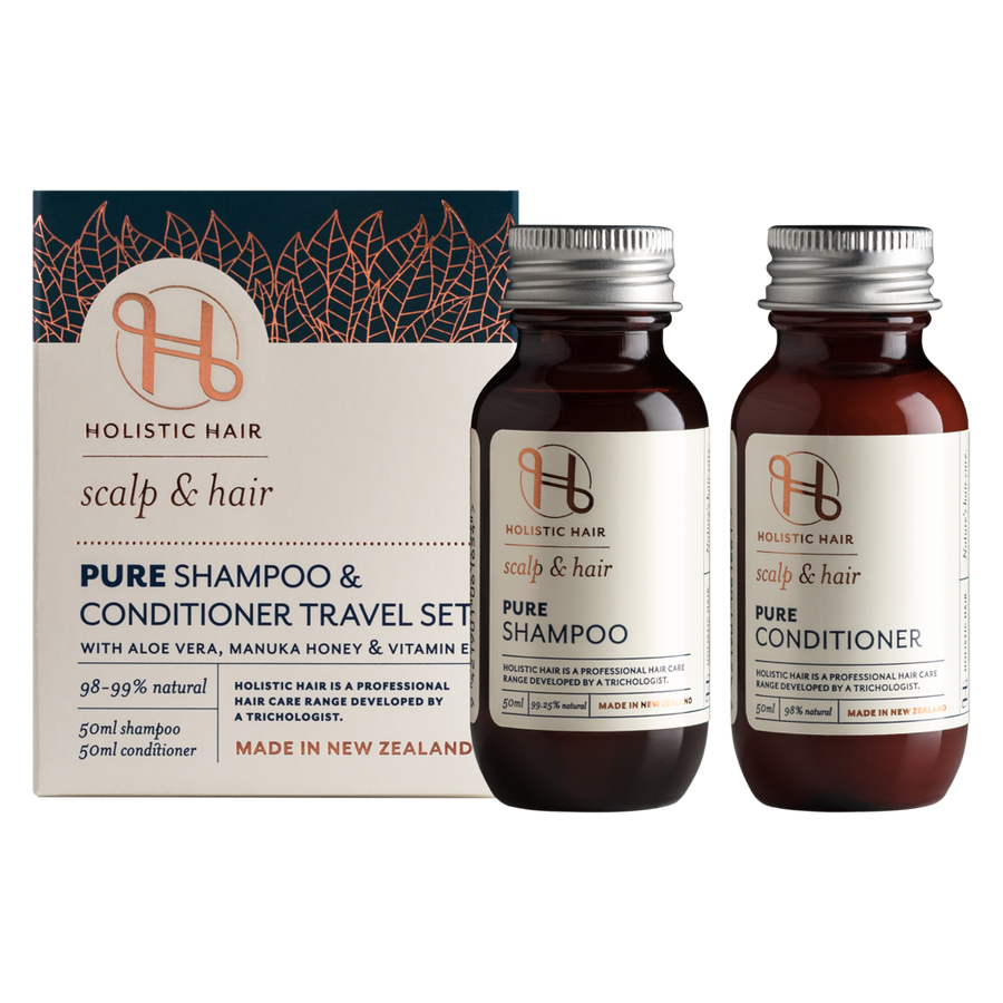 HOLISTIC HAIR Pure Shampoo & Conditioner Travel Pack 2x50ml