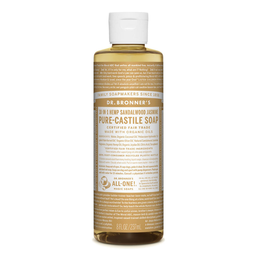 DR BRONNER SANDALWOOD  & JASMINE  LIQUID SOAP 238ml