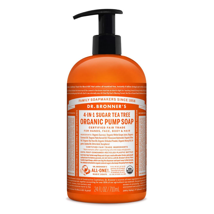 DR BRONNER TEA TREE SOAP PUMP 356ml