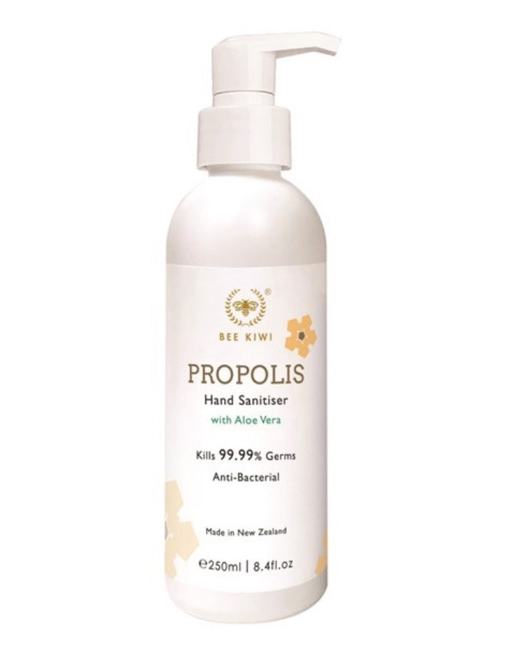Nature's Beauty Bee Kiwi Propolis Hand Sanitiser with Aloe Vera 250ml
