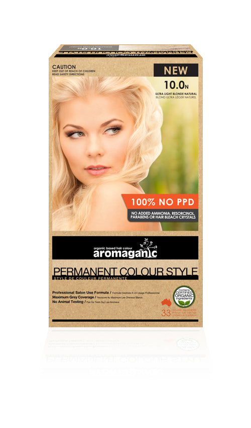 AROMAGANIC Hair Colour 10.0N Ultra Light Blonde