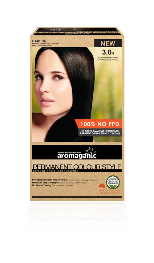 AROMAGANIC Hair Colour 3.0N Dark Brown
