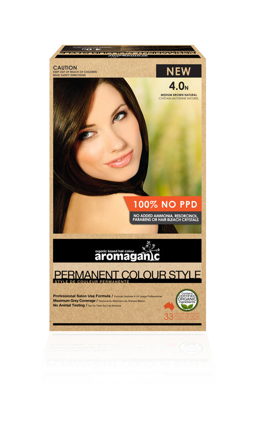 AROMAGANIC Hair Colour 4.0N Medium Brown