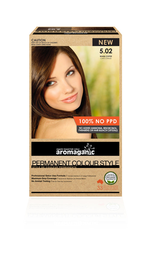 AROMAGANIC Hair Colour 5.02 Warm Coffee