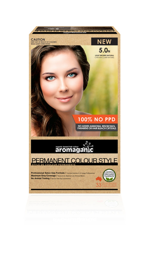 AROMAGANIC Hair Colour 5.0N Light Brown