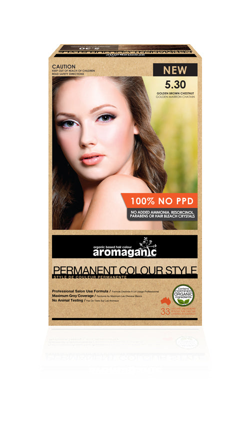 AROMAGANIC Hair Colour 5.30 Gold Brown Chestnut