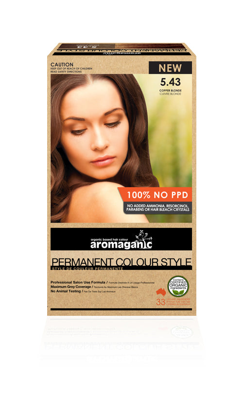AROMAGANIC  Hair Colour 5.43 Copper Blonde