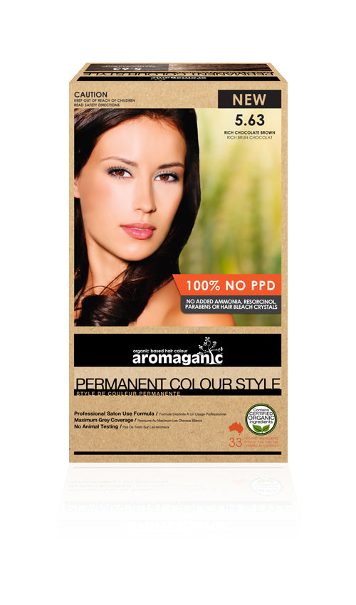 AROMAGANIC Hair Colour 5.63 Light Brown Chocolate