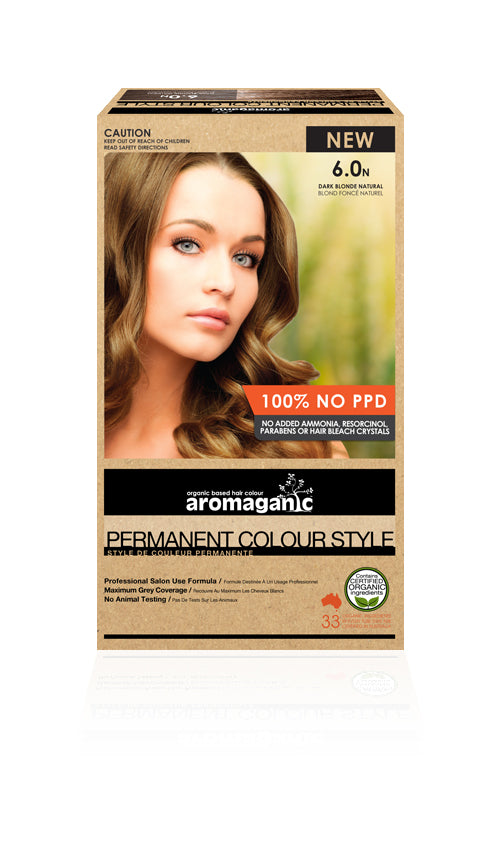 AROMAGANIC Hair Colour 6.0N Dark Blonde