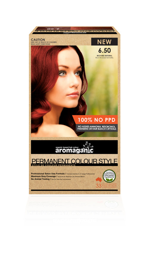 AROMAGANIC Hair Colour 6.50 Dark Blonde with Red