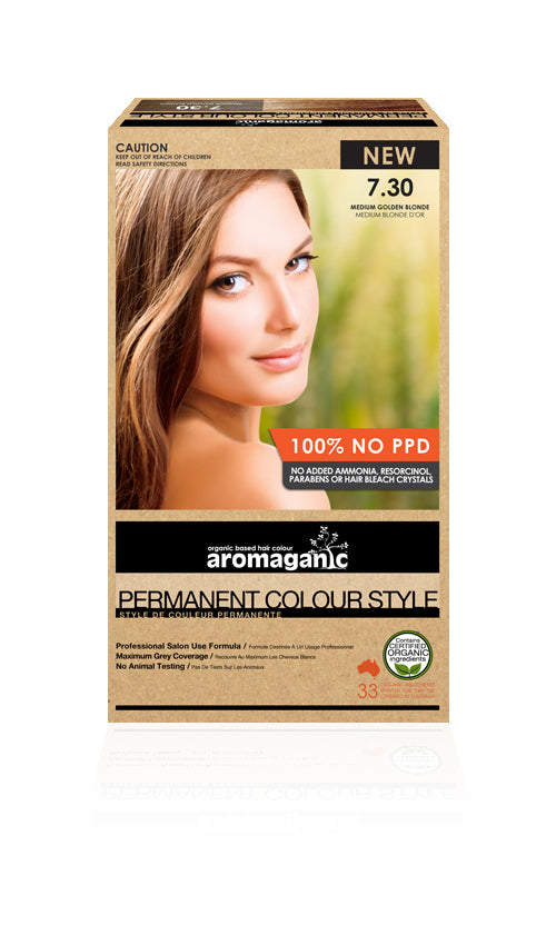 AROMAGANIC Hair Colour  7.30 Medium Gold Blonde