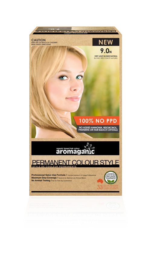 AROMAGANIC Hair Colour  9.0N Very Light Blonde