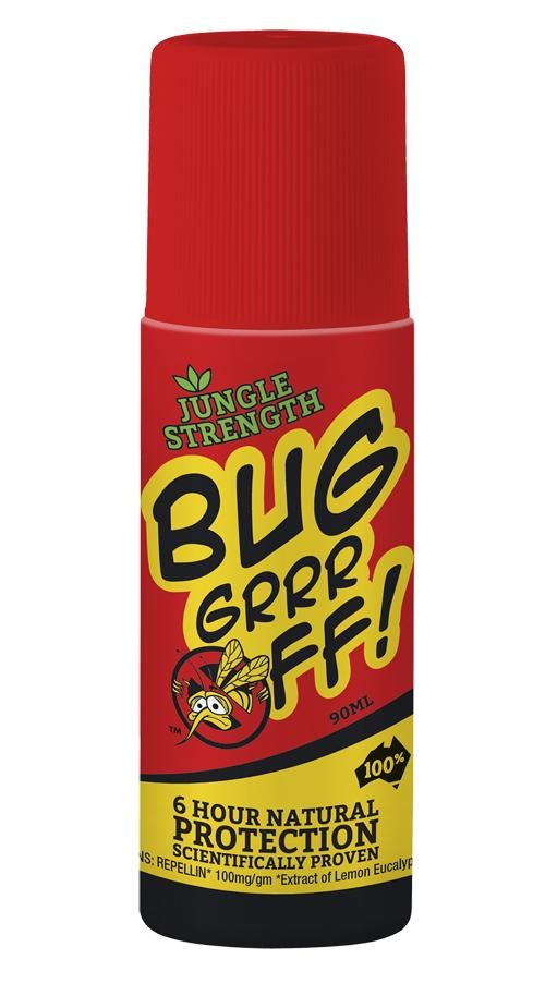 BUG GRR OFF JUNGLE STRENGTH Roll On Insect Repellent - 6 Hours Protection  90ml