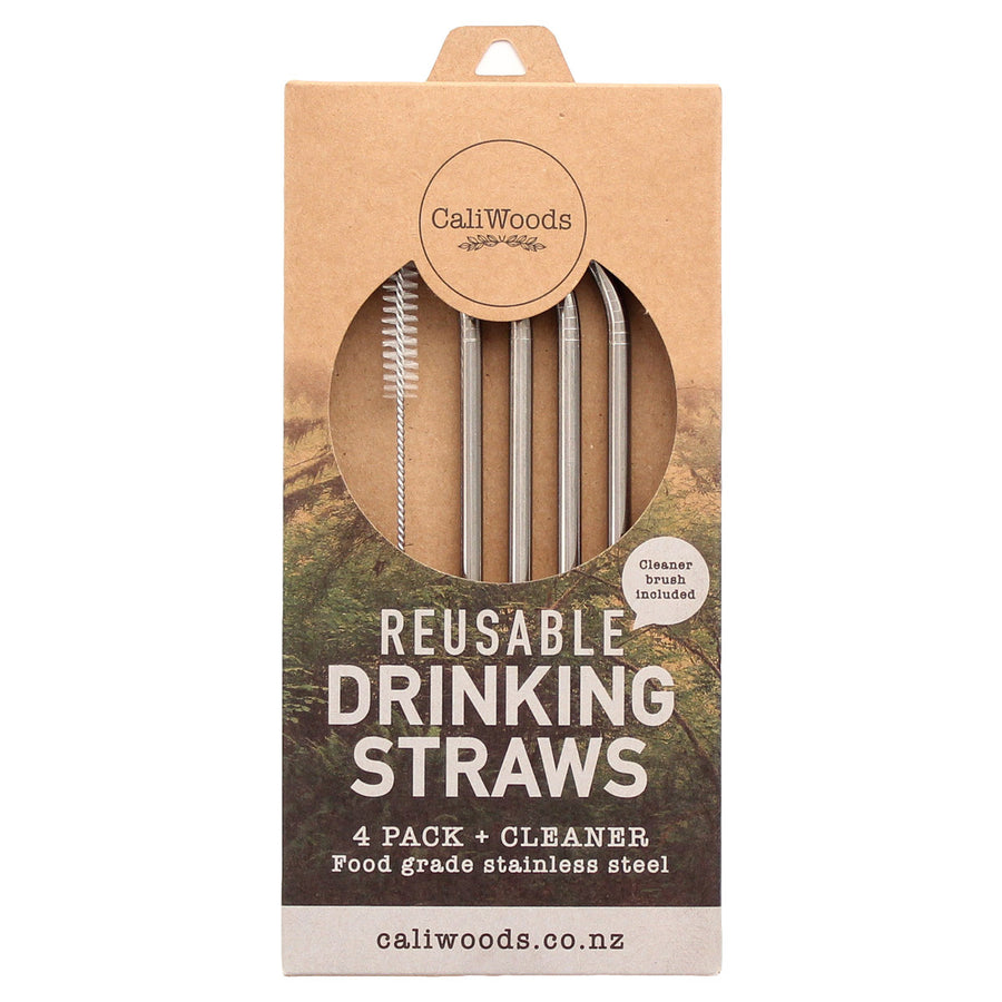 Caliwoods Drinking straw 4 pack & cleaner