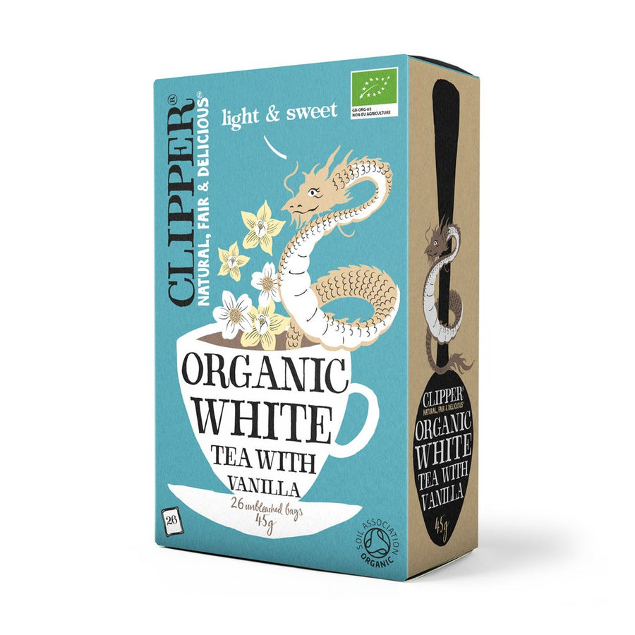 Clipper Herbal Tea White with Vanilla 26 Bags - Organic