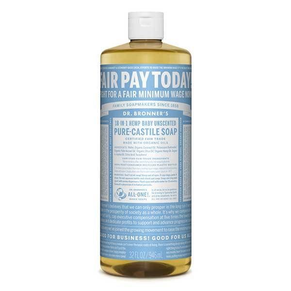 DR BRONNER BABY MILD LIQUID SOAP 944ml