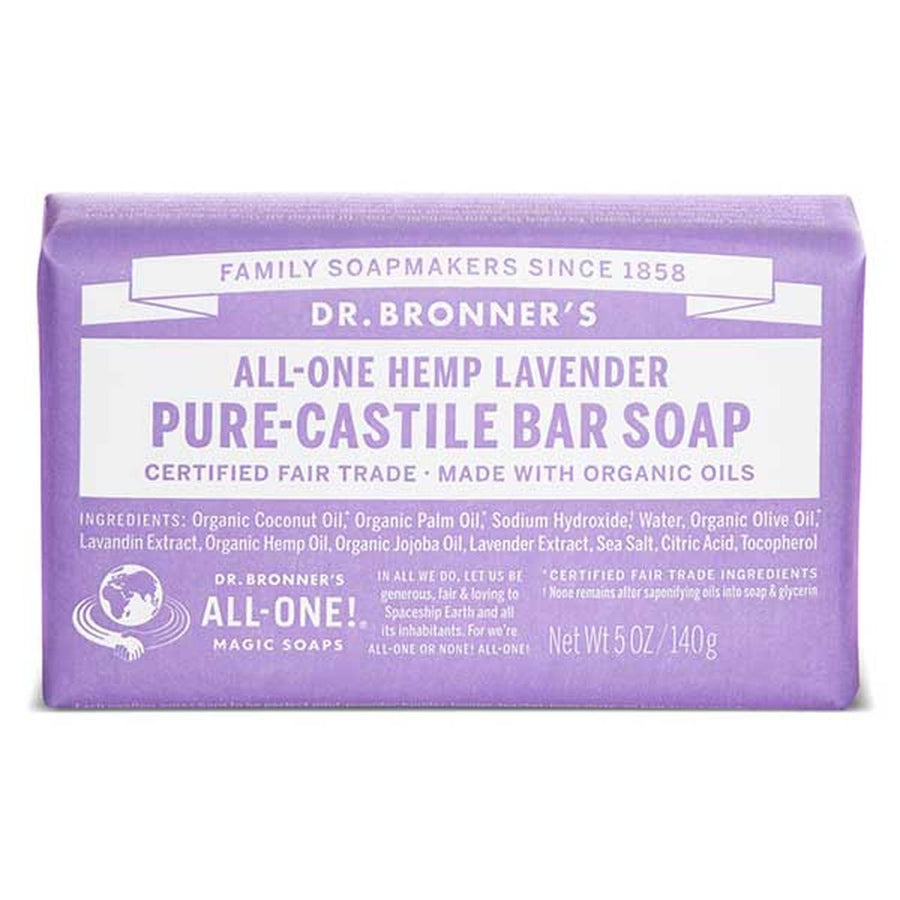 DR BRONNER LAVENDER BAR SOAP 140g