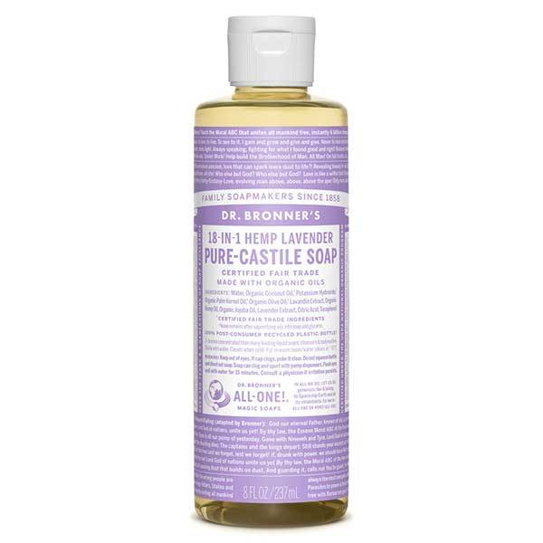 DR BRONNER LAVENDER LIQUID SOAP 59ml