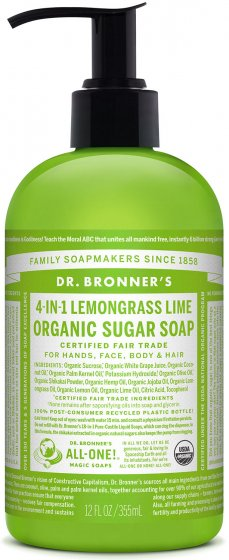 DR BRONNER LEMONGRASS  LIME SOAP 356ml - Organic