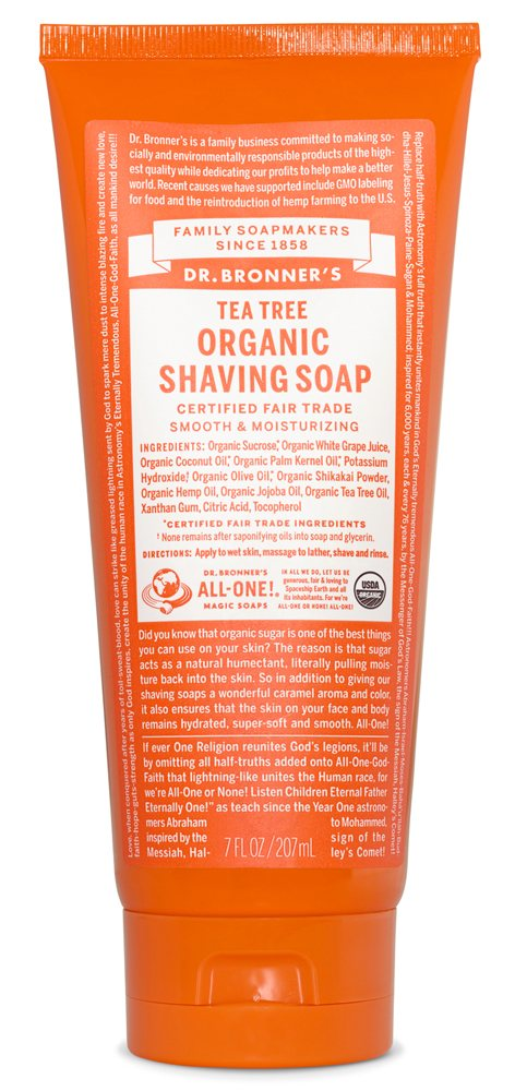 DR BRONNER TEA TREE SHAVE GEL 208ml