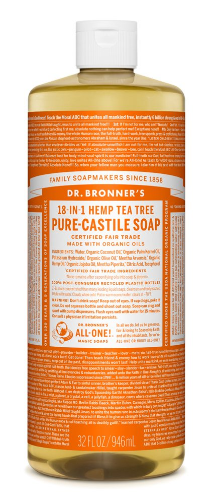 DR BRONNER TEA TREE LIQUID SOAP 236ml