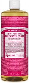 DR BRONNER ROSE OIL LIQUID SOAP 944ml