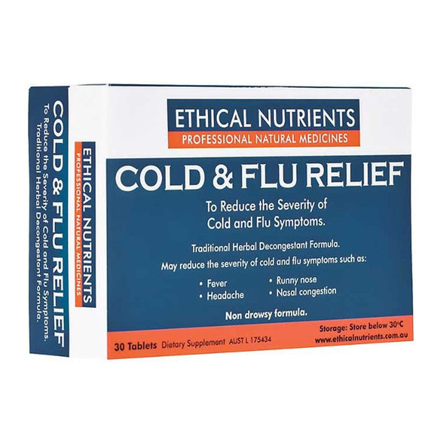 Ethical Nutrients Cold and Flu Relief 30 tablets