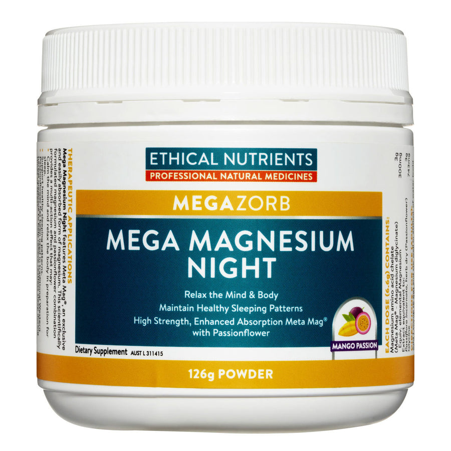 Ethical Nutrients  MegaZorb Mega Magnesium Night 126g Mango Passion