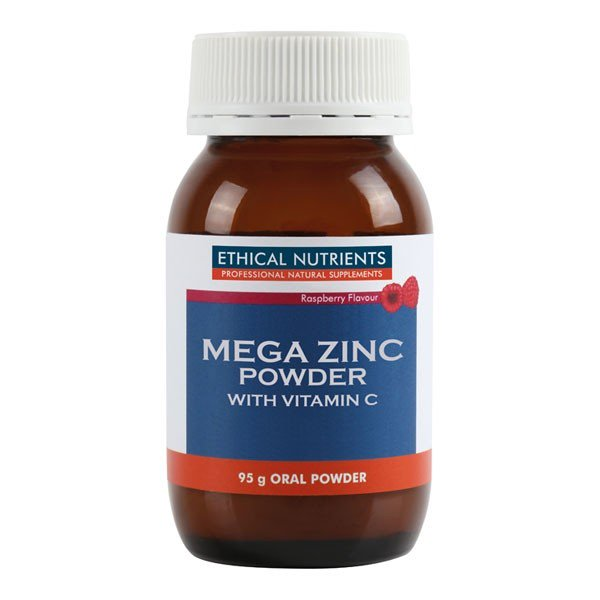 Ethical Nutrients Mega Zinc Powder Raspberry 95g