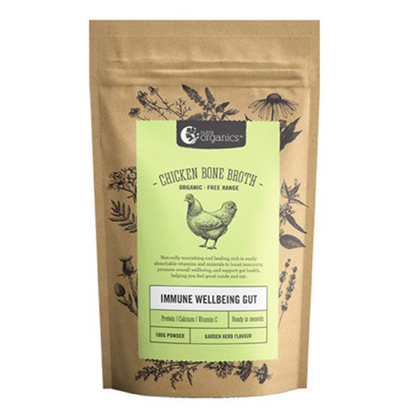 NUTRA ORGANIC Chicken Bone Broth Herb  100g