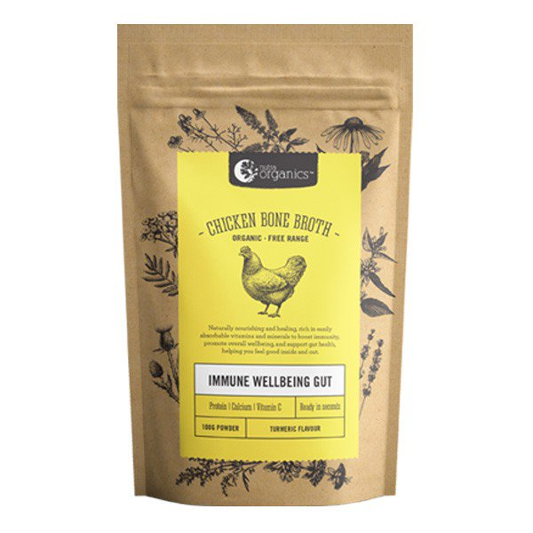 NUTRA ORGANIC Chicken Broth Turmeric 100g