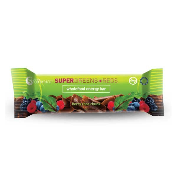 NUTRA ORGANICS Super Greens+Reds Bar 45g