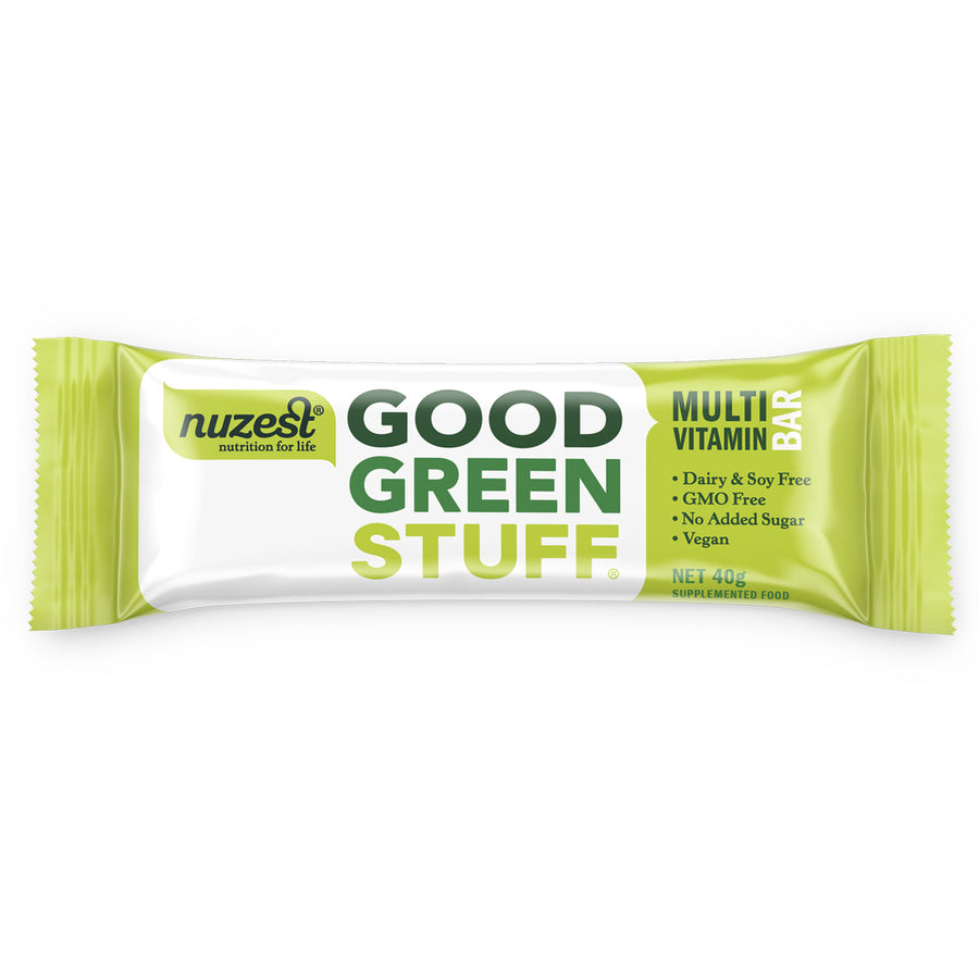 Good Green Stuff Bar 40g - NUZEST