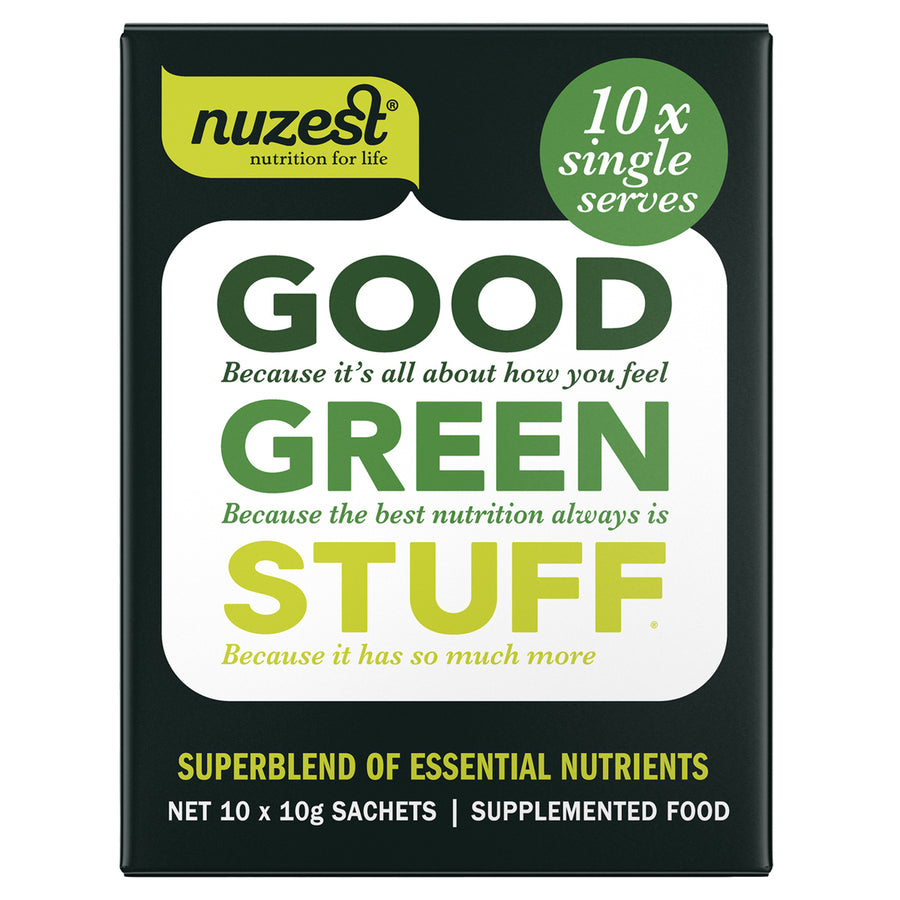 Good Green Stuff SachET  10x10g - NUZEST