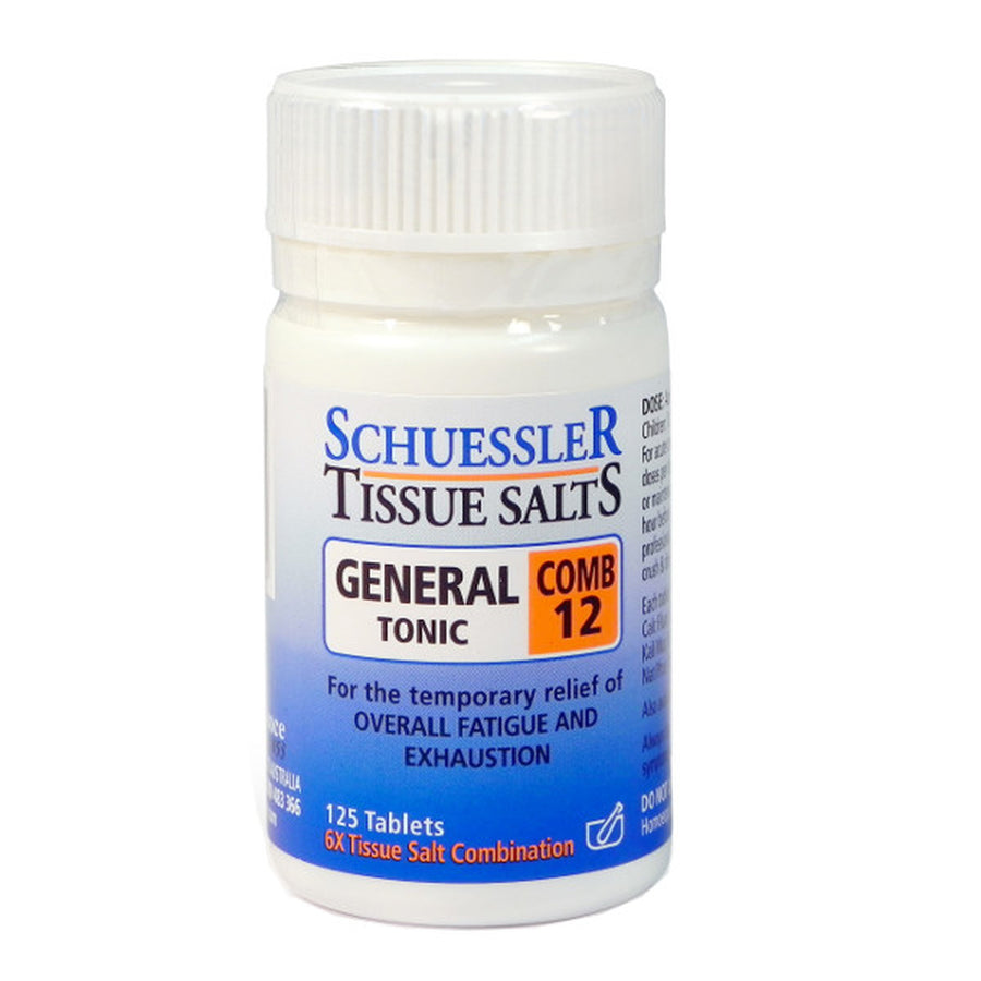 Dr Schuessler Combination 12 6X Tissue Salt 125 tablets