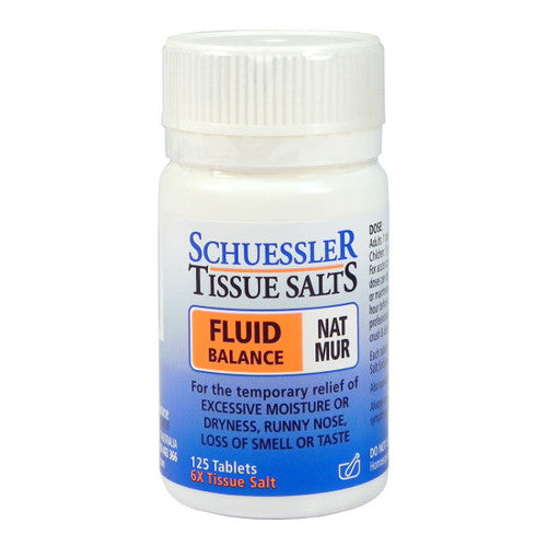 Dr Schuessler  Nat Mur 6X Tissue Salt 125 tablets