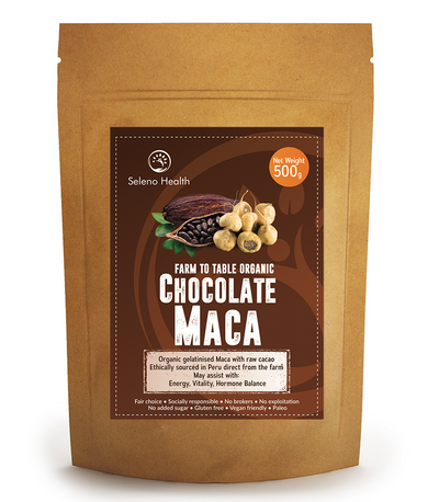 Seleno  Health Maca Chocolate Organic 500g