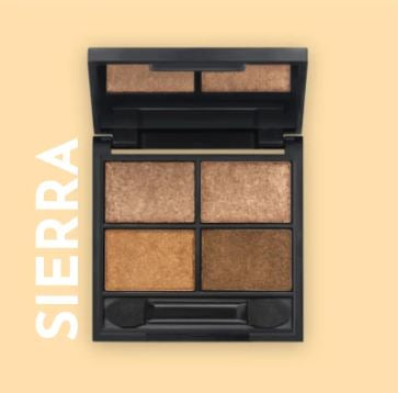 Zuii Quad METALLIC EYESHADOW PALETTE - Sierra