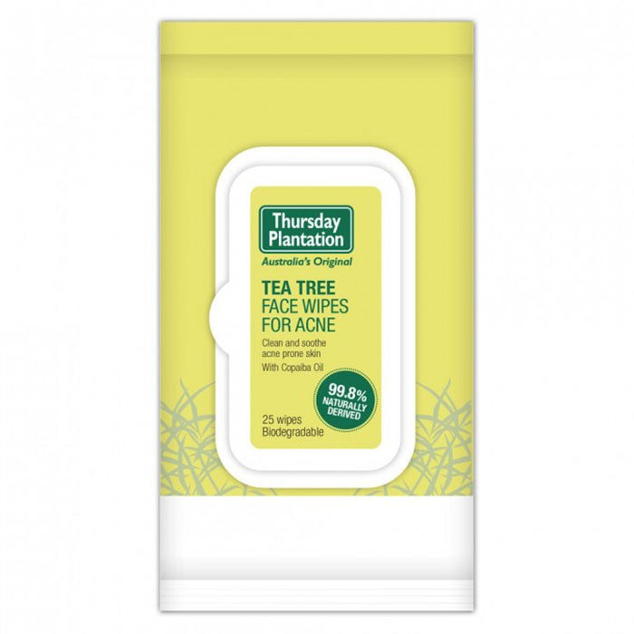 Thursday Plantation Tea Tree Face Wipes Acne 25 pack
