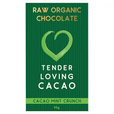 Tender Loving Chocolate Cacao Mint Crunch 45g