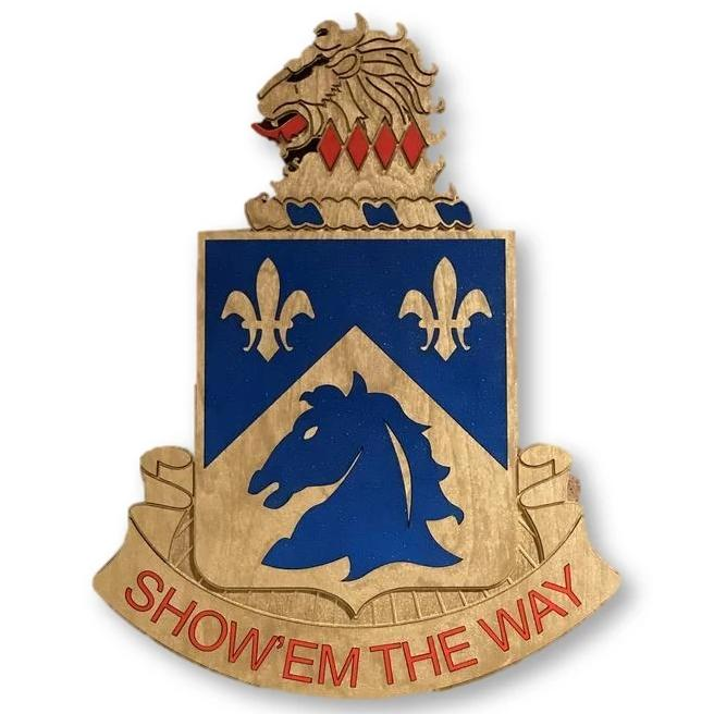 1-102nd Cavalry Regiment DUI (Show 'em the Way)