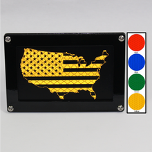 Stars & Stripes Reflective Hitch Cover