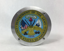 Department of the Army Round Reflective Hitch Cover